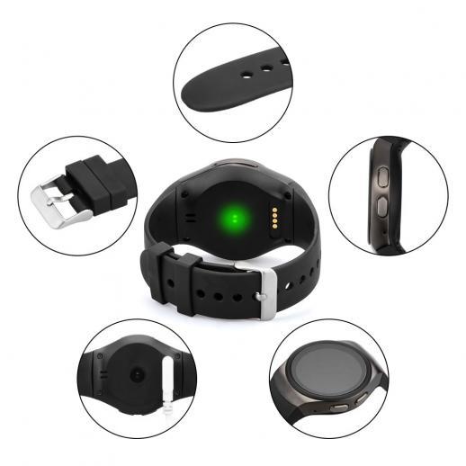 KingWear KW18 Smartwatch Bluetooth 4.0 Moniteur de fréquence cardiaque - Noir