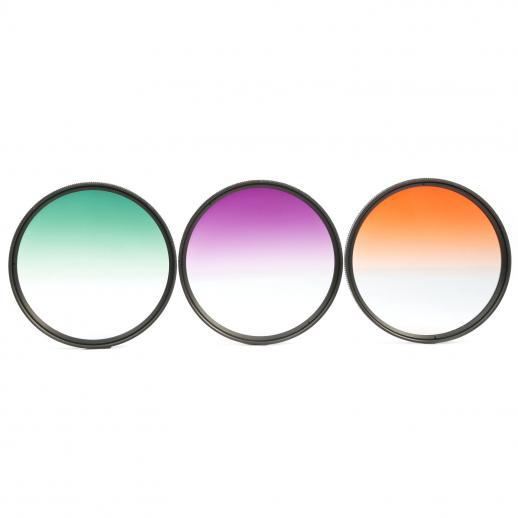 K F Concept Jeu de filtres de 67 mm (Orange graduée, bleu, gris ... 757caba6fa8d